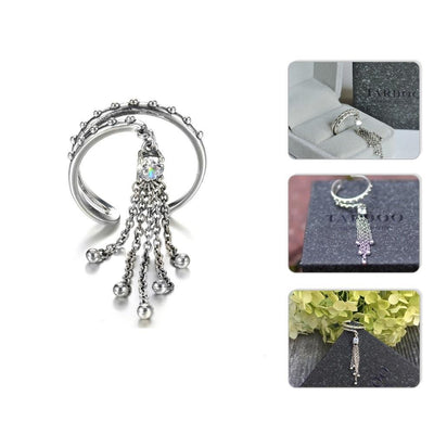Authentic Silver Tassel Rings for Women