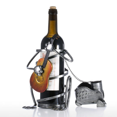 Metal Art Puppy Wine Holders-Home Decor-DogBlabShop