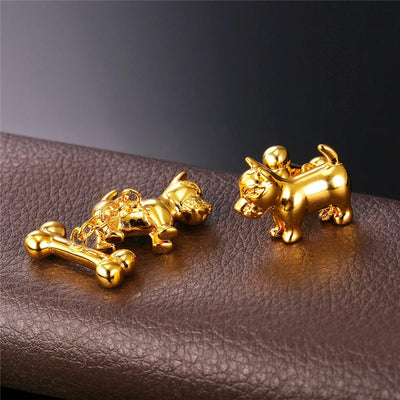 Cute Dog Cufflinks For Men,  Fashionable and Trendy Jewelry Free +Shipping