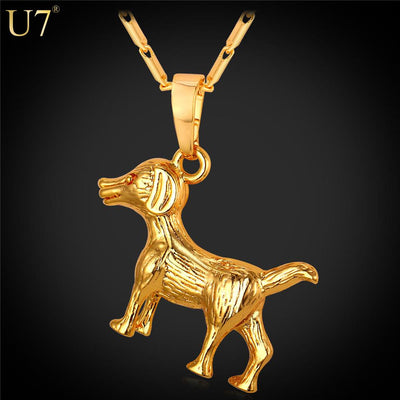 Fashionable Dog Necklace - Trendy Charm Animal Pendant-Jewelry-DogBlabShop