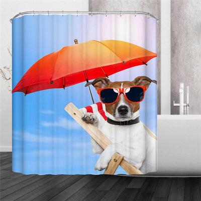3D Puppy, Cat and Goldfish Shower Curtains - DogBlabShop