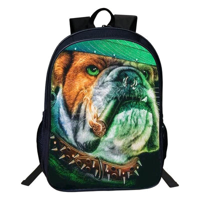 3D Dogs Polyester Backpack - DogBlabShop