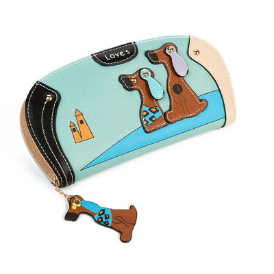 Ladies Wallet | Purse With Cute Puppy Zipper New Arrival - Great Gift Idea-Wallets-DogBlabShop