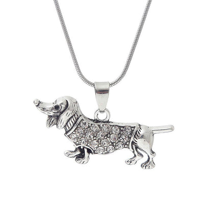 Cute Dachshund Pendant Necklace for Women