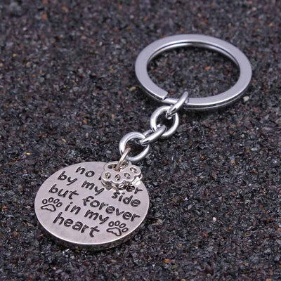 "Keychain ""No Longer By My Side But Forever In My Heart""-Key Chains-DogBlabShop"