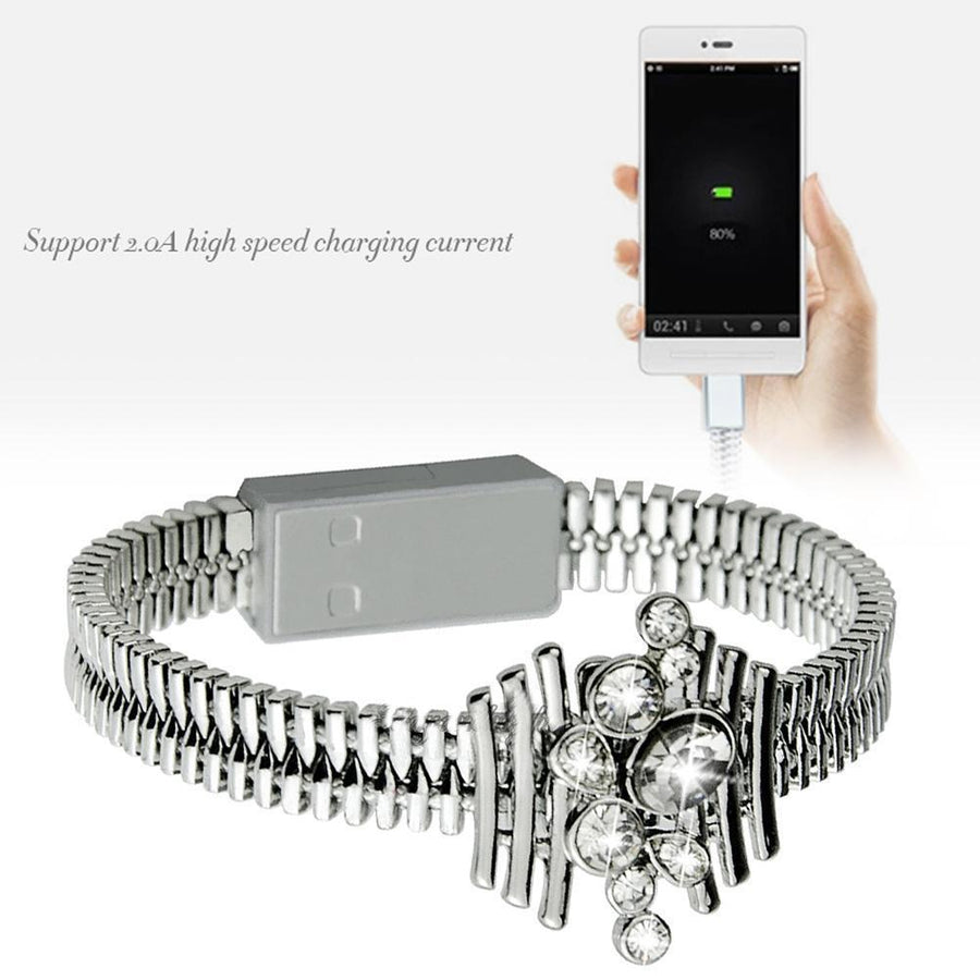 Charger Cable Bracelet Sync Data Bracelet for Iphone 7 6 5 IOS Phone
