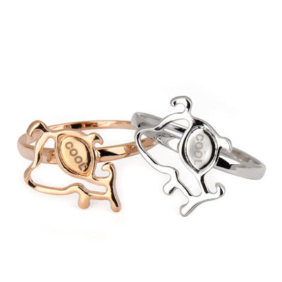 Cool Dog Rings in Gold and Silver for Women