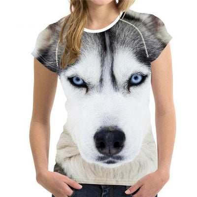 3D Dogs T-shirts for Women