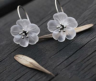 Delicate Flower Drop Earrings for Women