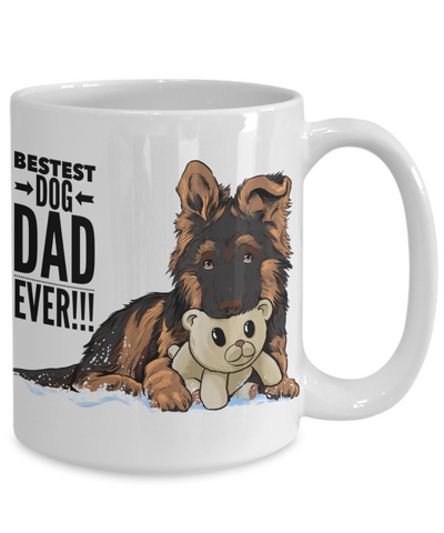 Bestest Dog Dad Ever! GSD Puppy Mug!