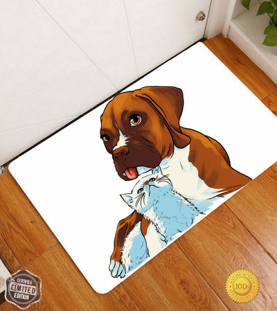 Amazingly Cute Floor Mats With Puppies (Customizable)