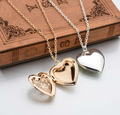 Gold/Silver Heart Locket and Necklace