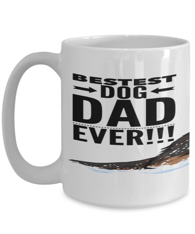 Bestest Dog Dad Ever - GSD Puppy Mug!