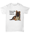 GSD - Keep Calm And Play With Me (Unisex Tee)