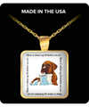 BOXCAT - Home Is Where My Furbabies Are At Square Pendant Necklace