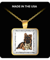 GSD - Home Is Where My Dog Is At Square Pendant Necklace