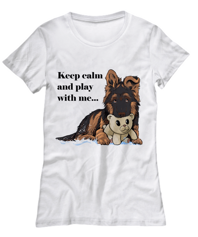 GSD - Keep Calm And Play With Me (Women's Tee)
