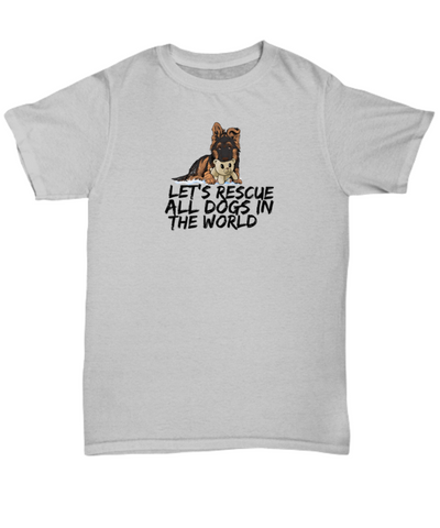 Let's Rescue All Dogs In The World - GSD Puppy - T-shirt