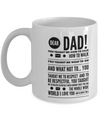 Dear Dad Mug! Beautiful Gift For Your Father!