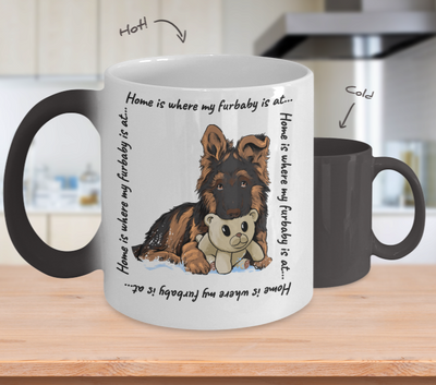 GSD - Home Is Where My Furbaby Is At (Color-Changing Mug)