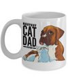 Bestest Cat Dad Ever! Boxer with Kitten!