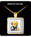 LAB - Home Is Where My Dog Is At Square Pendant Necklace