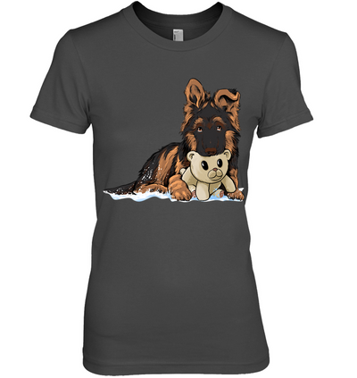 Awesome German Shepherd Puppy With Teddy Bear T-shirt