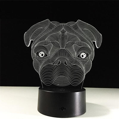 3D LED Pug Nightlight - DogBlabShop