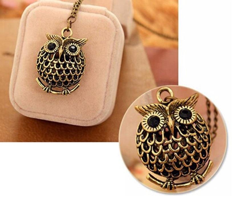 Delicate Owl Pendant and Necklace for Women