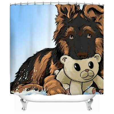 Cute and Beautiful Puppies Shower Curtain