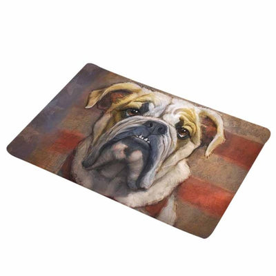 Awesome Old English Bulldog Printed Anti-Slip Floor Mats - DogBlabShop