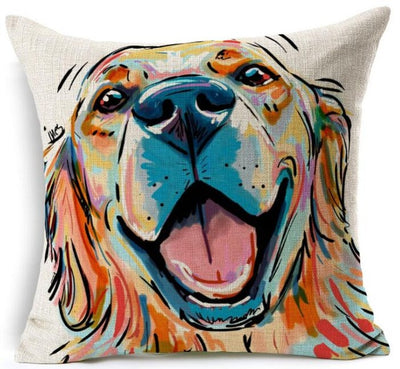 Cute Golden Retriever Pillow Cases