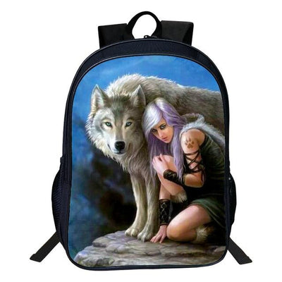 3D Dogs Polyester Backpack