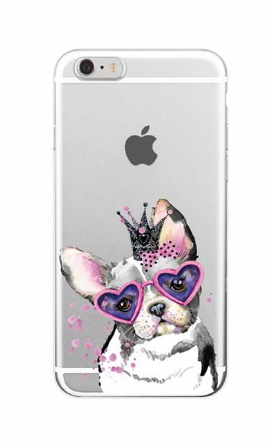 Cute Puppy Pug Bunny, Cat Princess Meow, French Bulldog!!! Soft Phone Case Cover For iPhone 7 7Plus 6 6S 6Plus and Samsung
