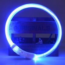 USB Rechargeable LED Luminous Dog Collar-Collars-DogBlabShop