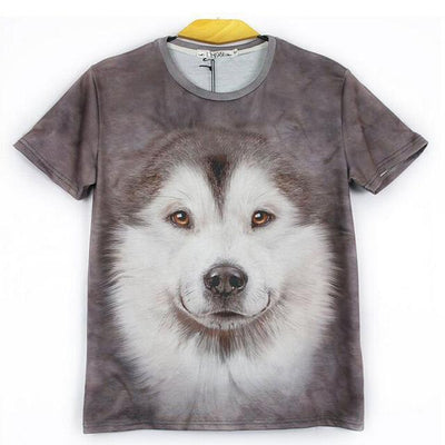 3D Wolf Dog T-Shirts for Teens