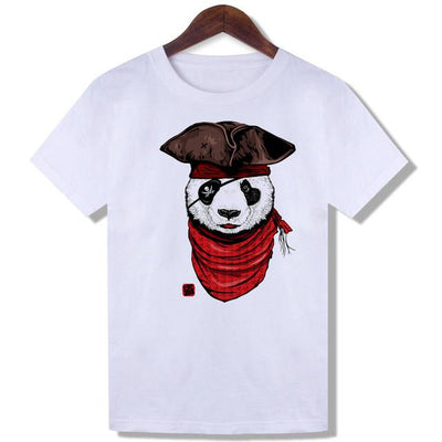 Cool Sunset Dog Printed White Trendy T-shirts