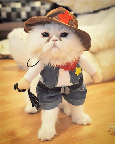 Cowboy / Police / Nurse / Doctor Costumes for Cats Kitten Clothes - DogBlabShop