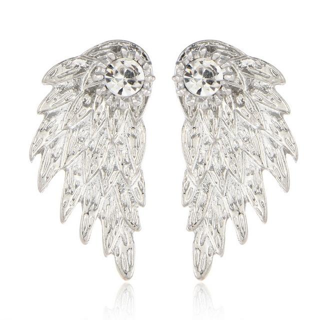 Magnificent Double Studded Angel Wings Earring for Women