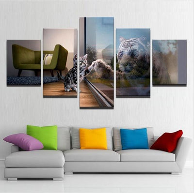 Beautiful 5 Pieces Dog Canvas Wall Art - DogBlabShop