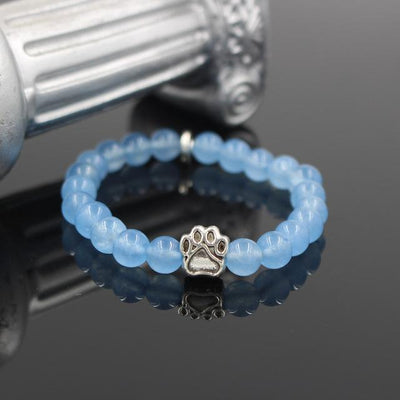 Exquisite Mala Bead Bracelets with a Beautiful Paw Print-Jewelry-DogBlabShop