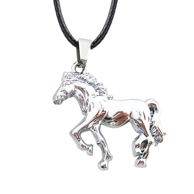 Stainless Steel Horse Pendant and  Rope Necklaces for Men and Women