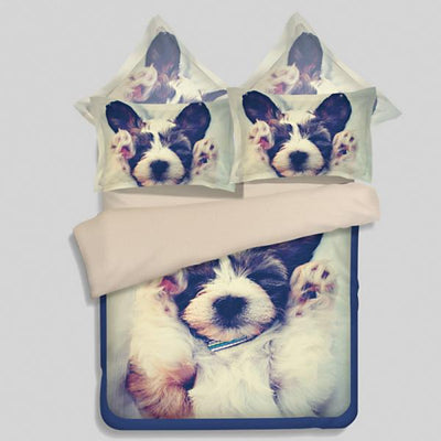 3D Puppies Duvet Cover Set - DogBlabShop