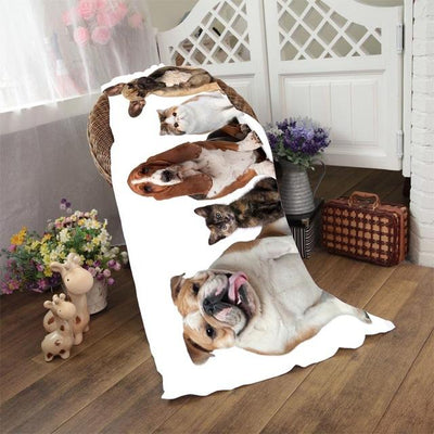 Dogs Fluffy Towels