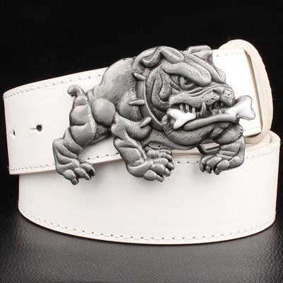 Angry Bulldog Buckle Belts for Men and Women