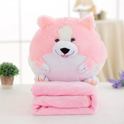 Cute Corgi Stuffed Toys with Fleece Blankets - DogBlabShop