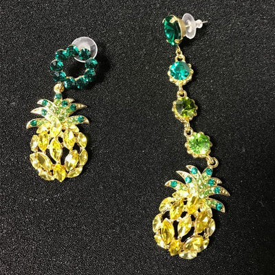 Asymmetry Pineapple Crystal  Earrings for Women