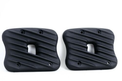 Black Ribster Finned Rocker Box Boxes Covers Harley Sportster Evo 1986-2003 XL
