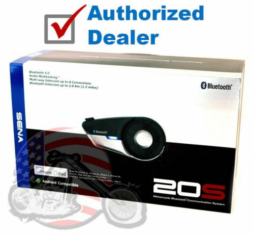Sena 20S-01 Bluetooth Headset/Intercom FM Radio Motorcycle Helmet 20S Single