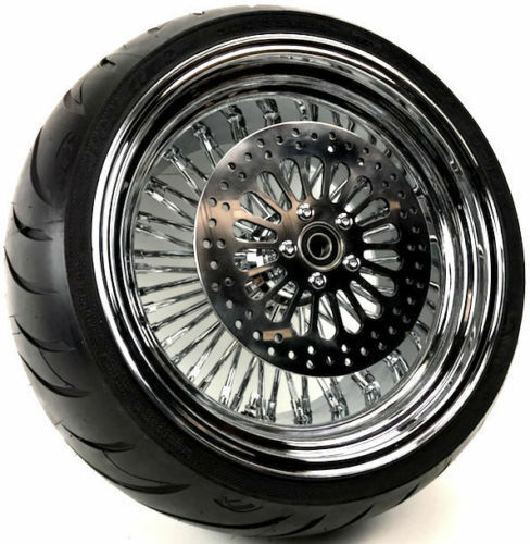 16 X 5.5 52 Fat Mammoth Spoke Rear Wheel Rim BW Avon Tire 09-2018 Harley Touring